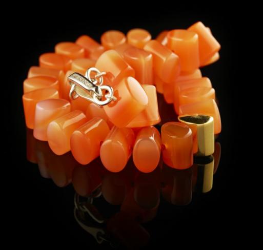 Cornelian bead necklace