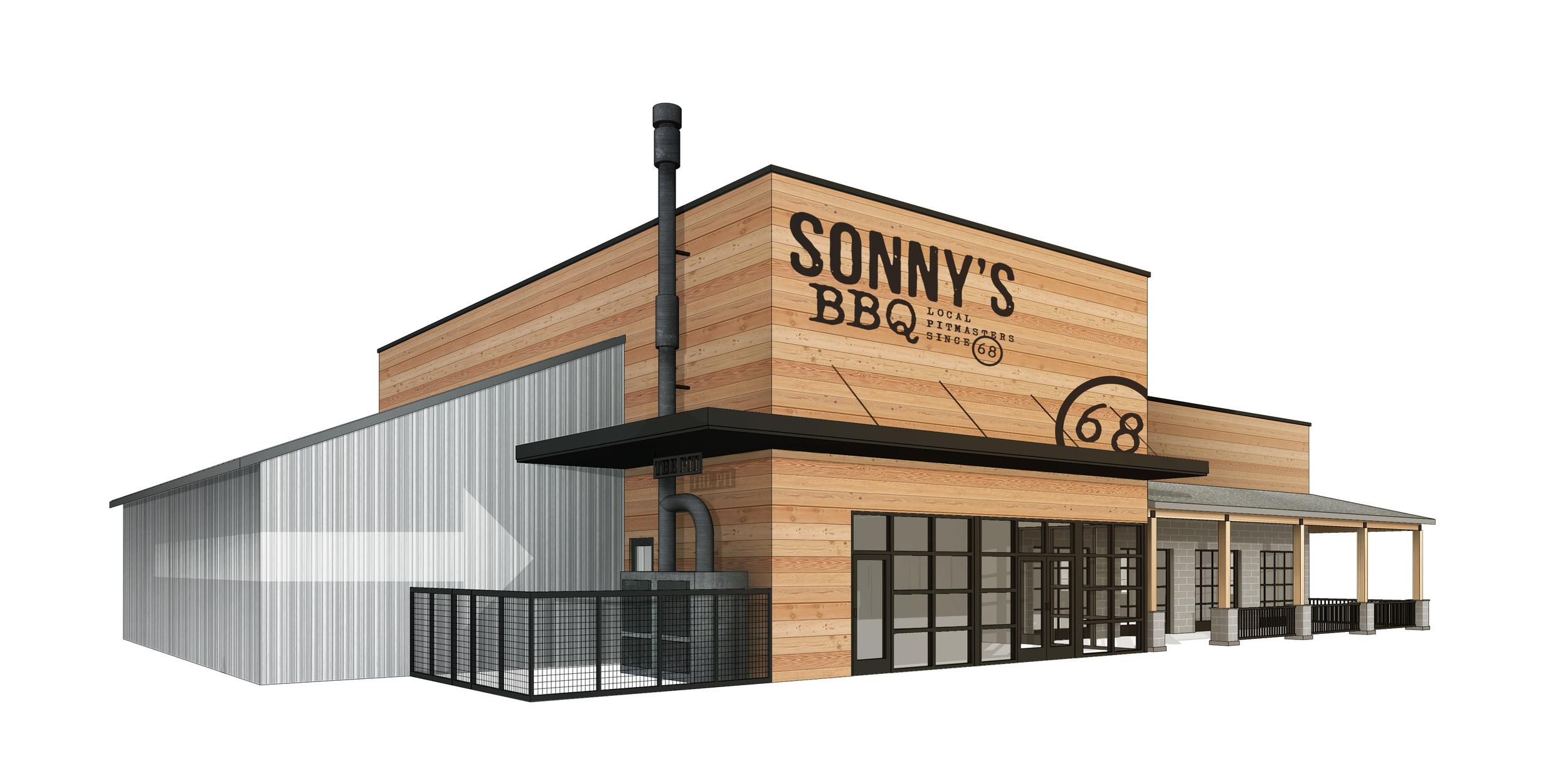 Sonnys BBQ Exterior Rendering MWA