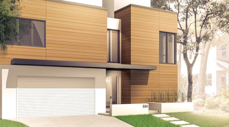 Yale Residence Front Exterior Rendering MWA
