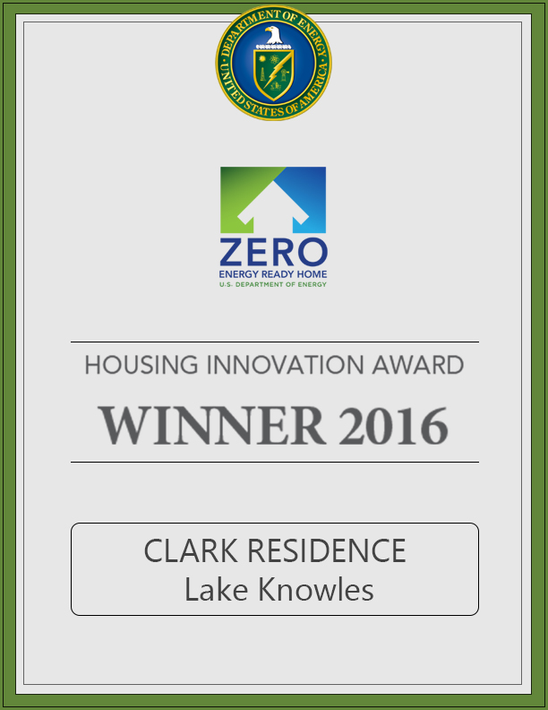 Zero Energy Ready Home | June 2016  Lake Knowles Residence