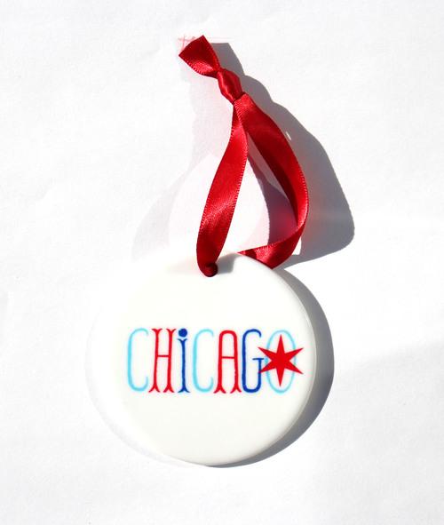 Chicago Ornament, $11