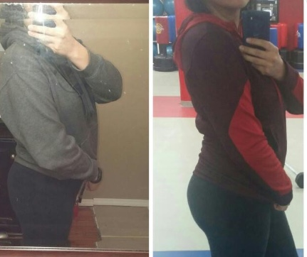 Before and after using Build A Bumba Booty-Isabel R.