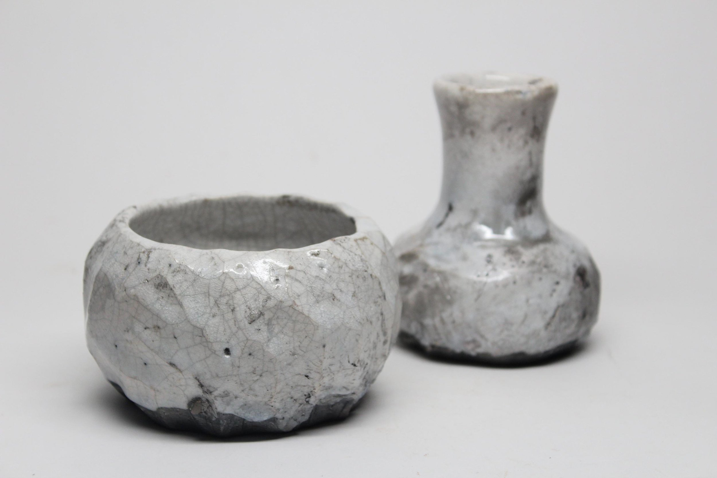 Horn_Frosted Duo_Rakued Stoneware_3-5 inches tall.jpg