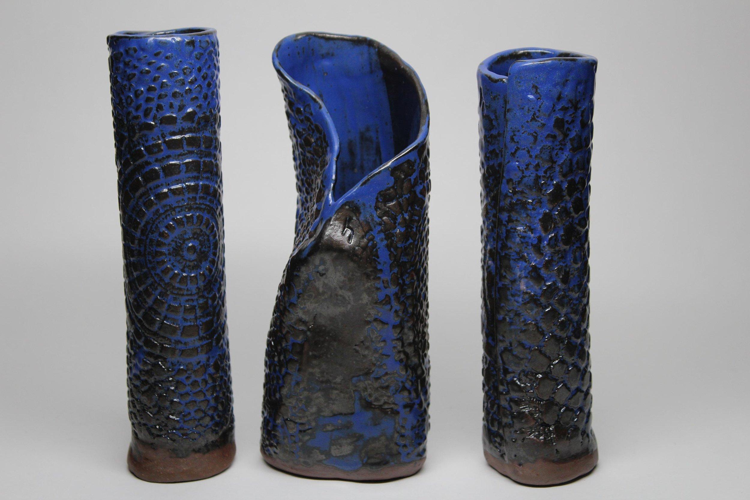 Horn_Vase Trio_Earthenware_9 inches tall.jpg