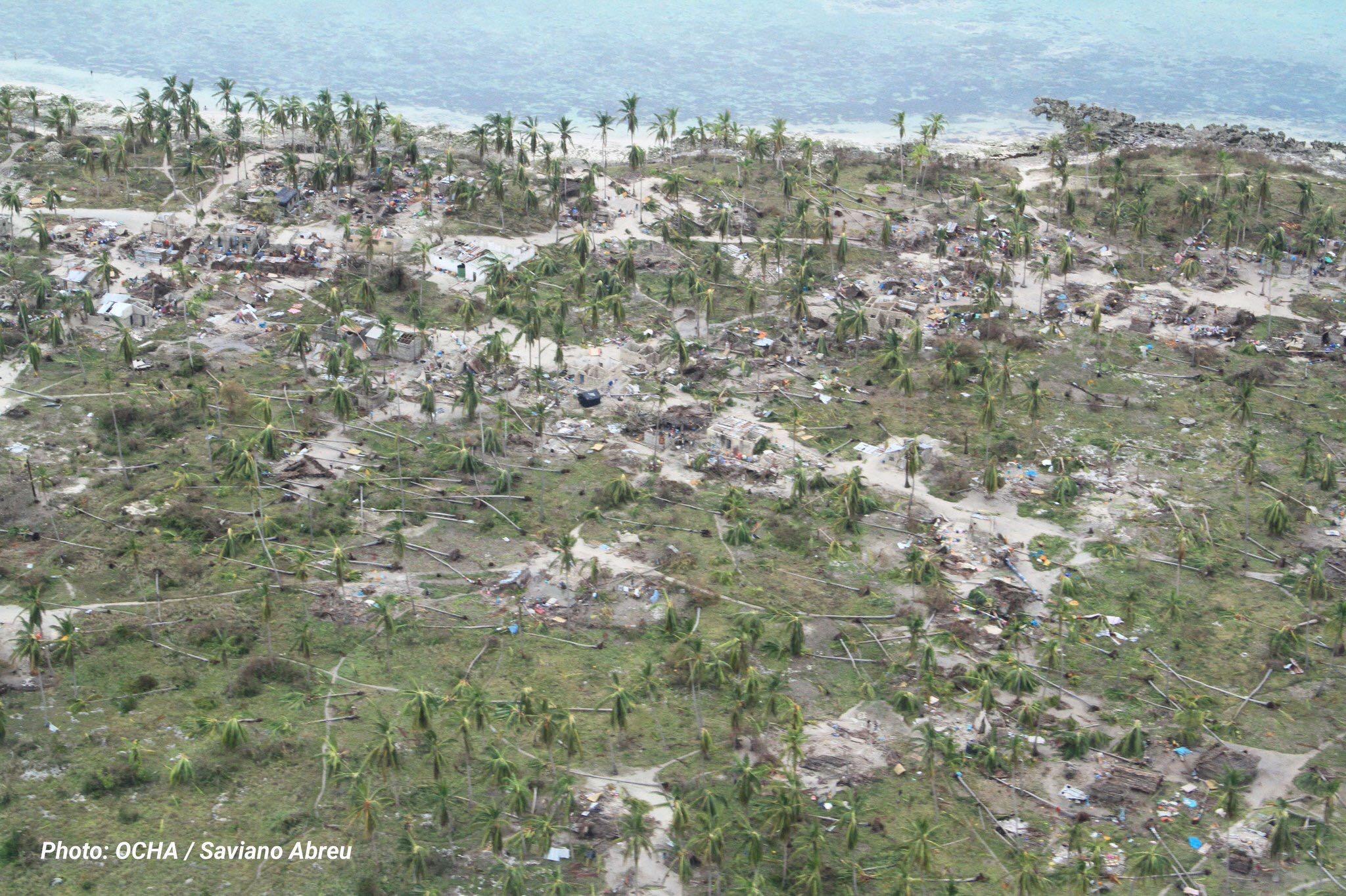 cyclone kenneth. OCHA image of Macomia village