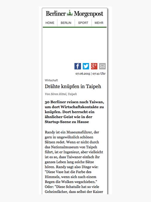 Berliner Morgenpost (German), 07.06.2015 → READ