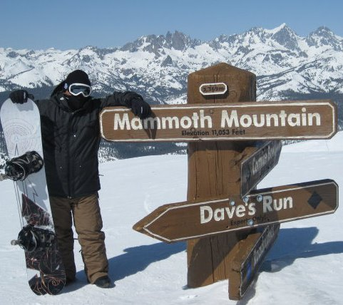 This was at the peak of Mammoth Mountain during the 2011/2012 season.