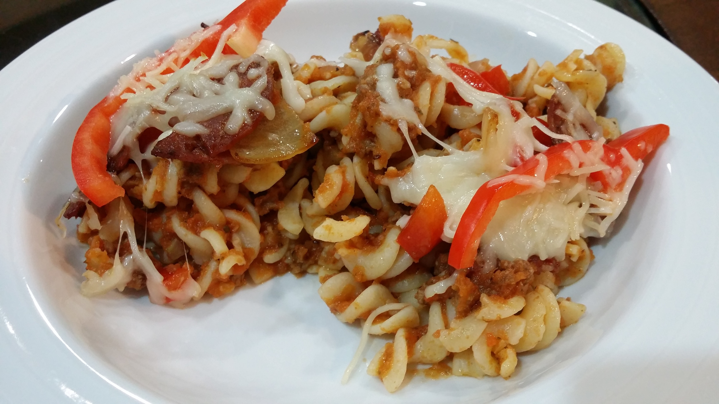 Cavatini Style Casserole  made with the Homemade Pasta Sauce