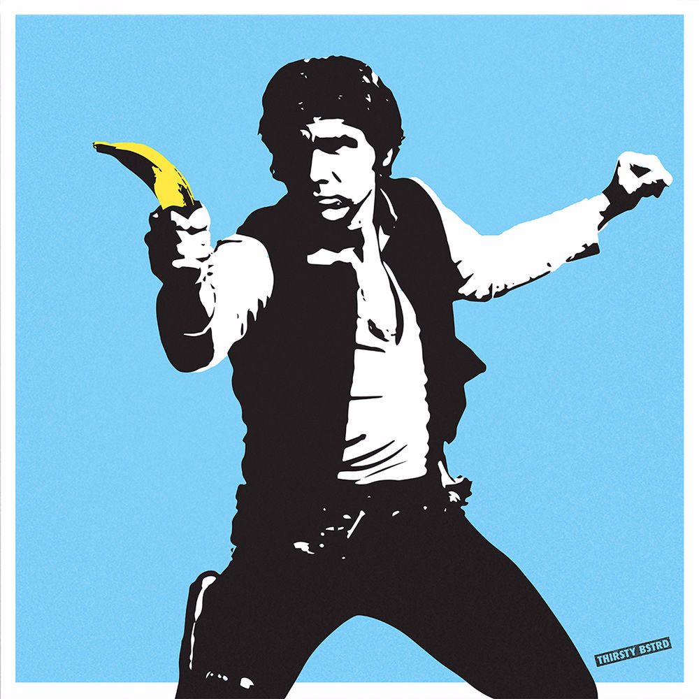 Han Solo Banana Gun - 50 signed limited edition silkscreens from £130.