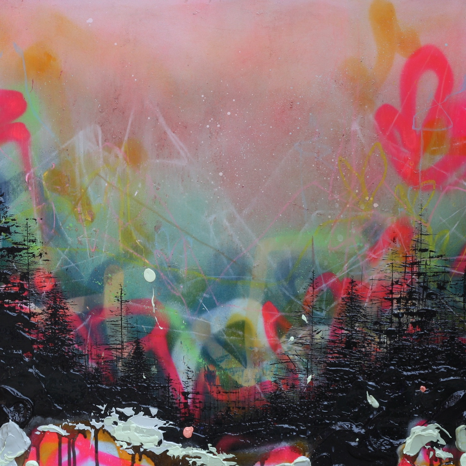 New gallery artist Lee Herring will be exhibiting  'Glowing Forest'  at Ones to Watch.