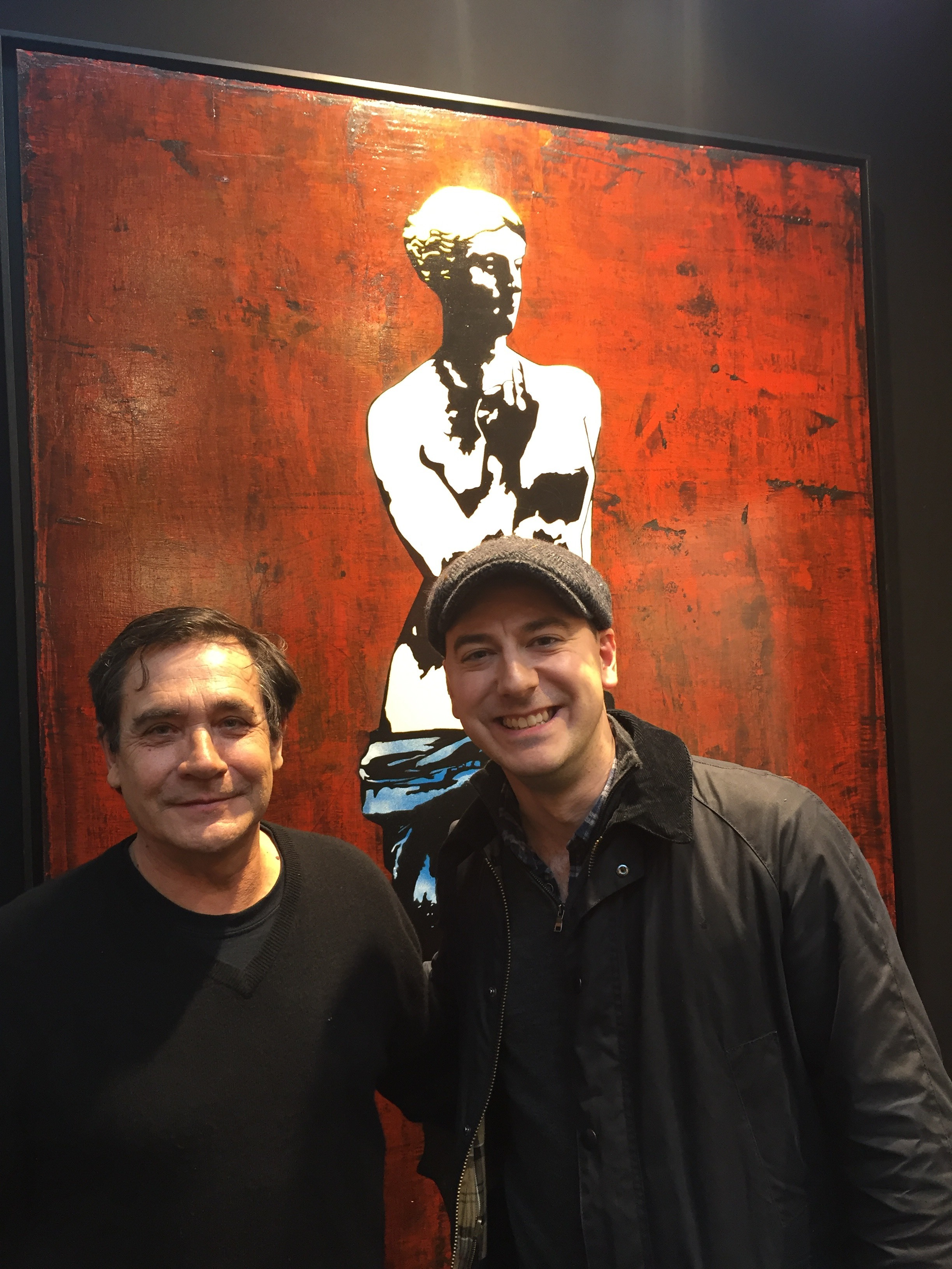 Catching up with Blek le Rat at the Urban Art Fair in Paris.