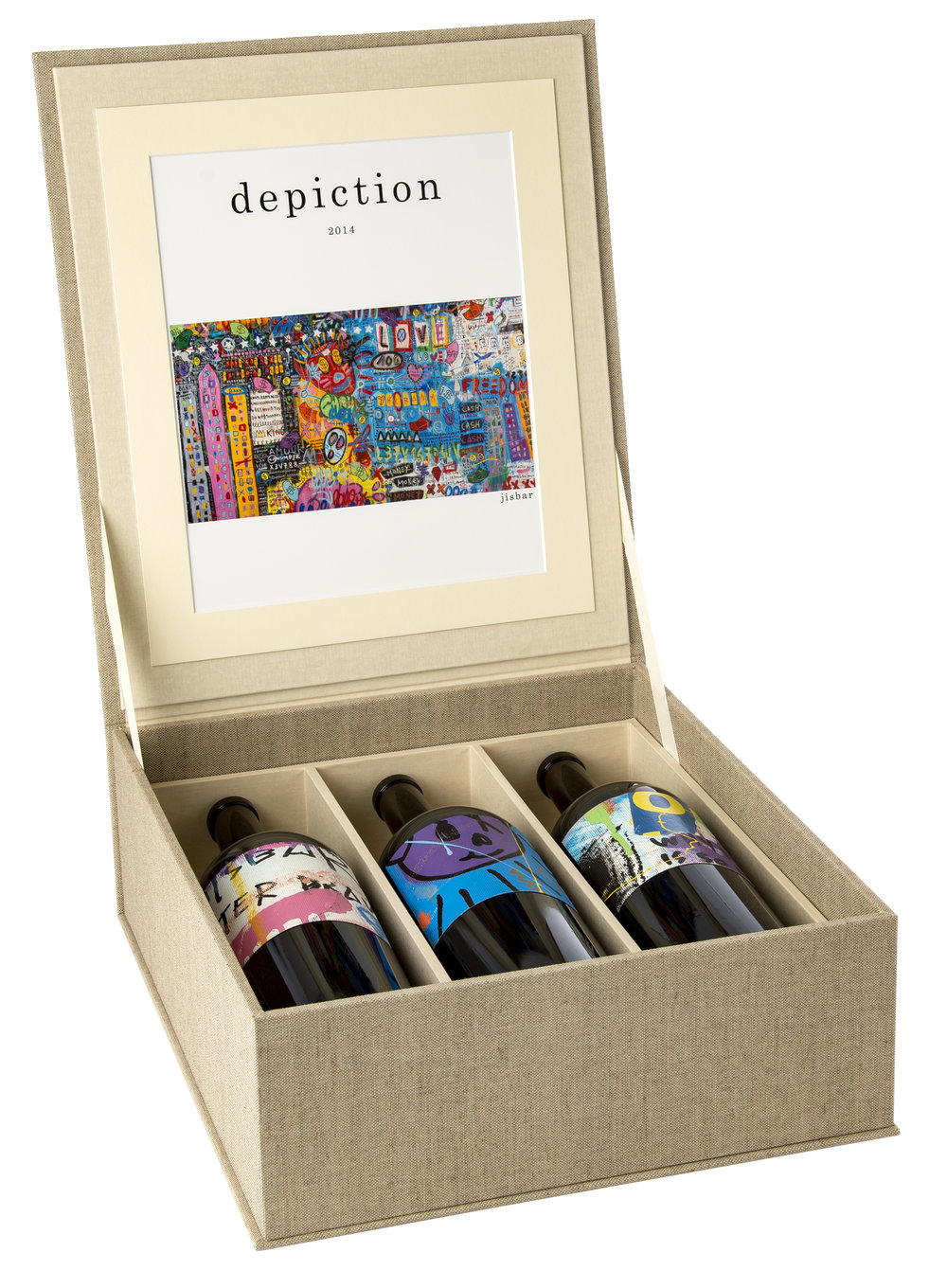 The Depiction Wines 2014 vintage is available as a box set of 3 magnum bottles.