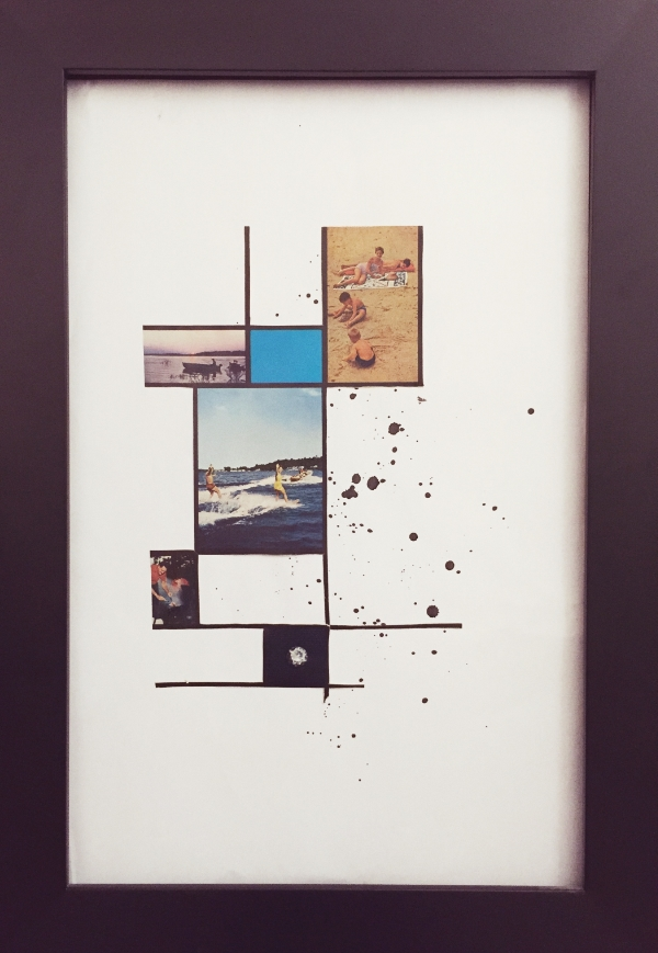 """Kirby Sybert.  Life in a Box . Collage and Acrylic on Paper. 11""""x 17"""""""