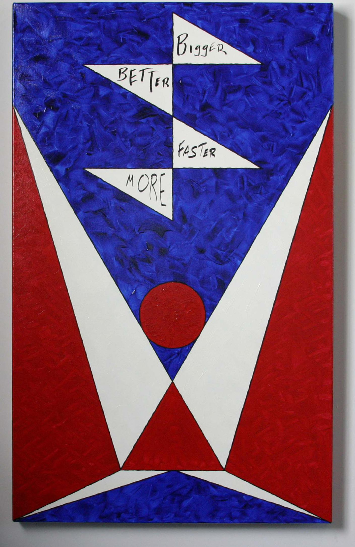 "Michael Cerbone. Manifest Destiny . Acrylic on Canvas.40.5"" x 25""."