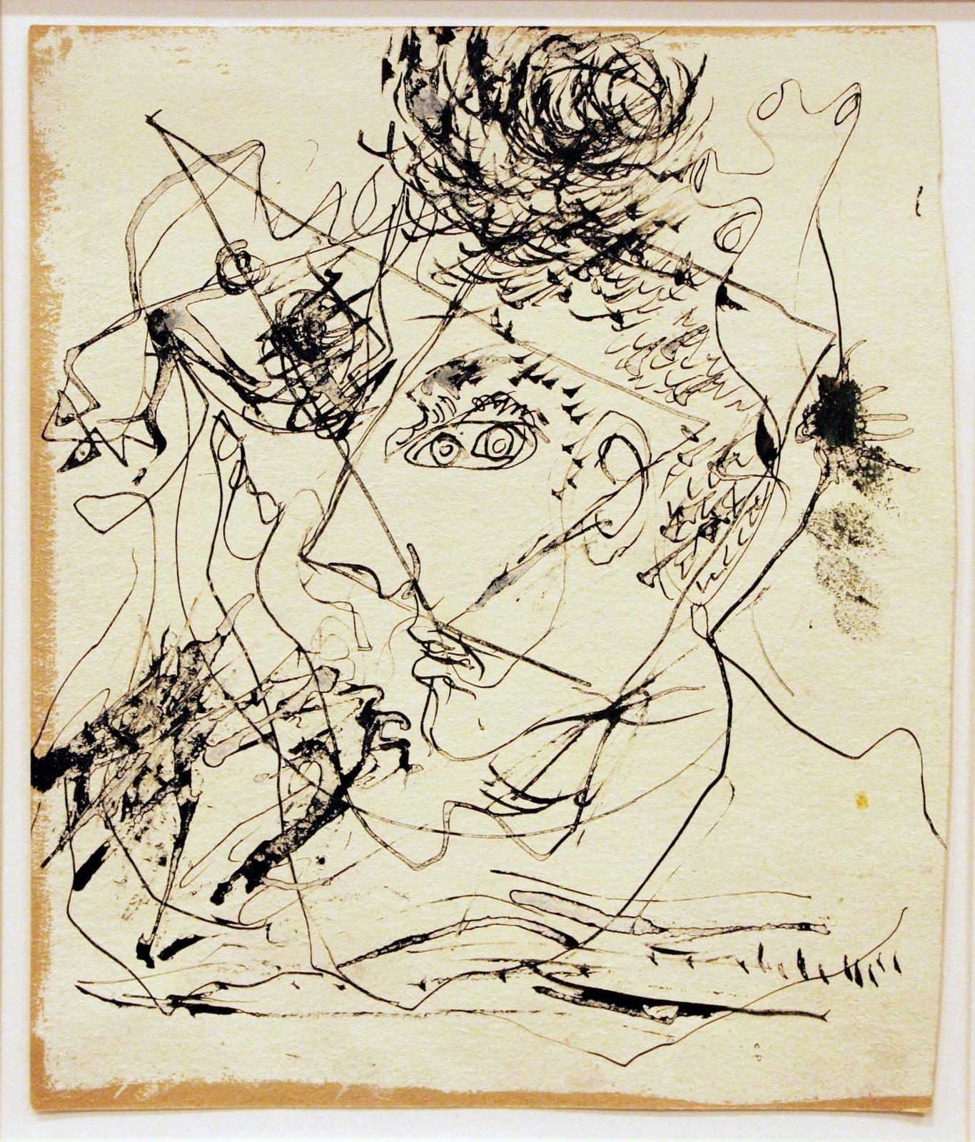 "Jackson Pollock ""Self Portrait"""