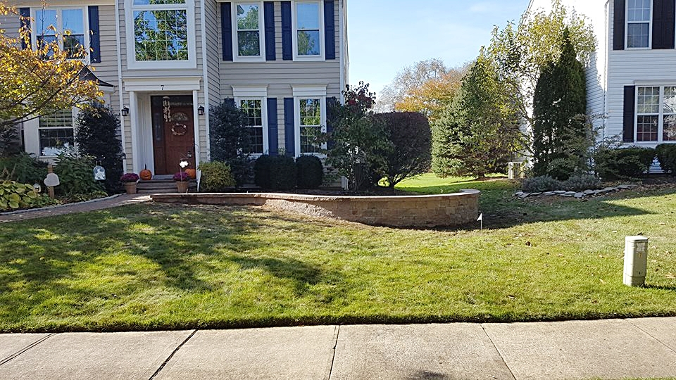 Landscape design. We built retaining wall using Pavers. This project compliments the other hardscape features  of the house.