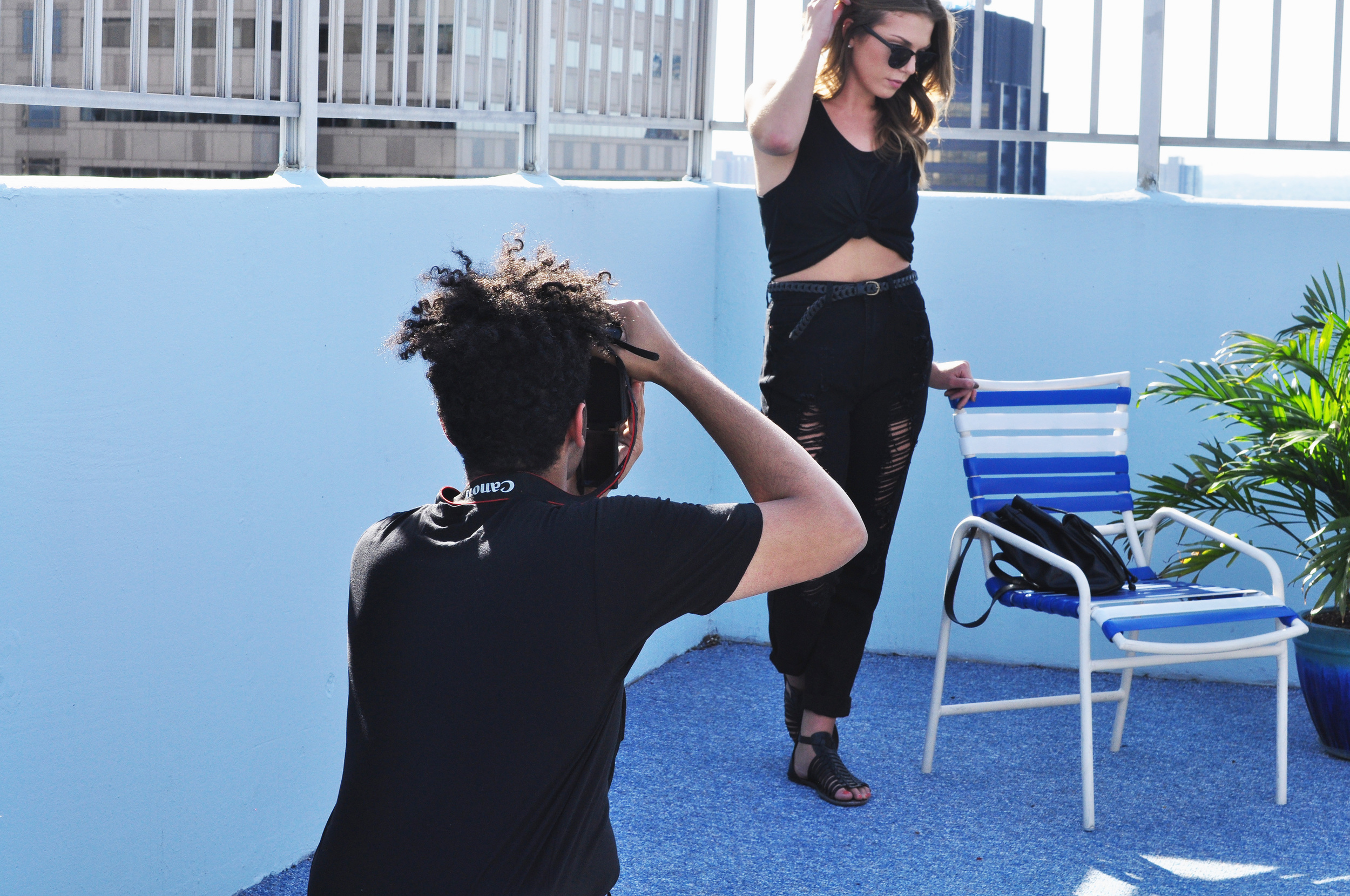 Michael Wolever shooting Abby Boyle for Thread Society  (Photo by Shannon Adolt)