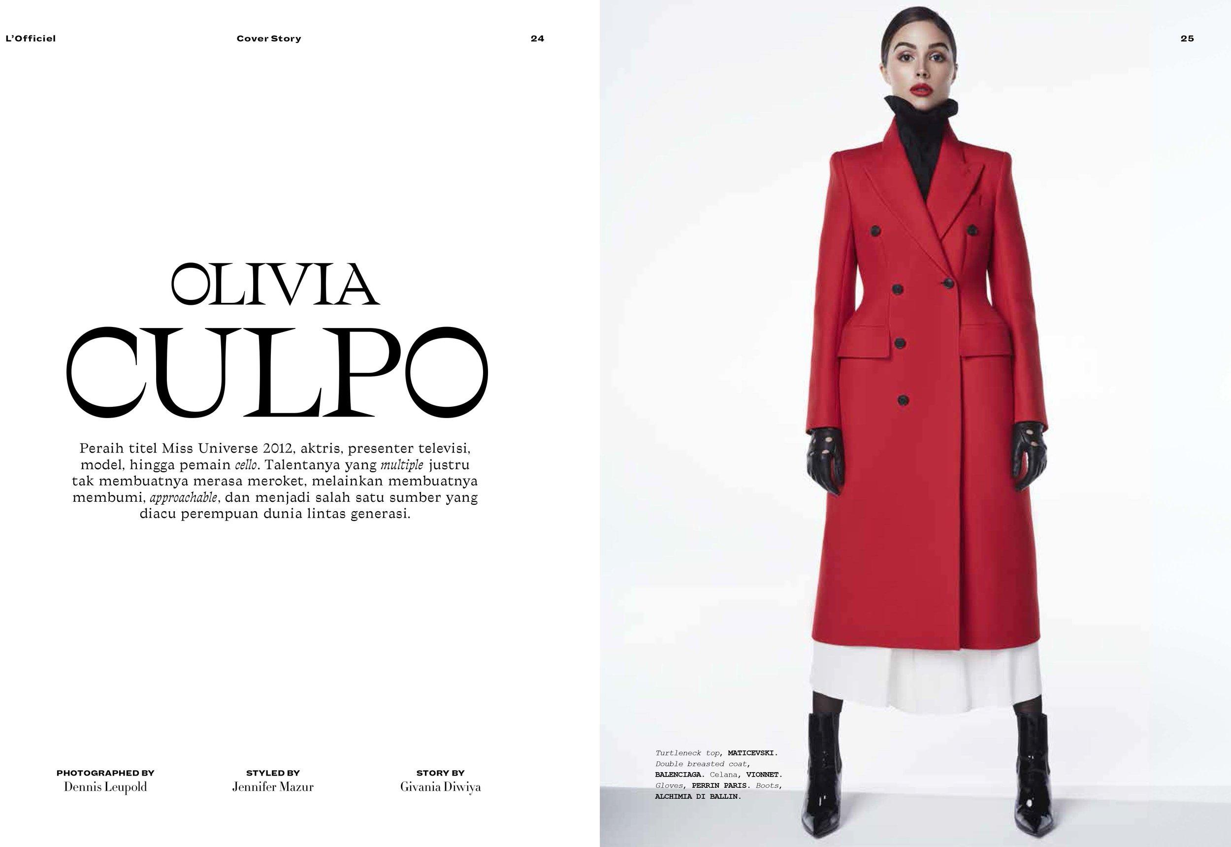 Olivia Culpo - L'Officiel