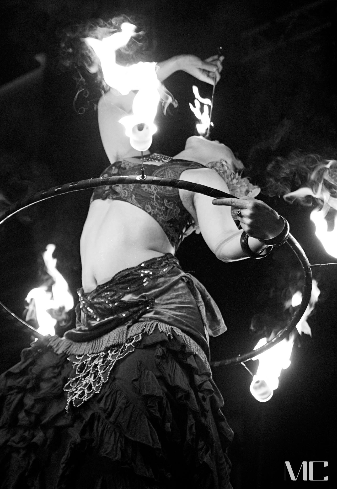 Fire at The Show Me Burlesque Festival in St. Louis