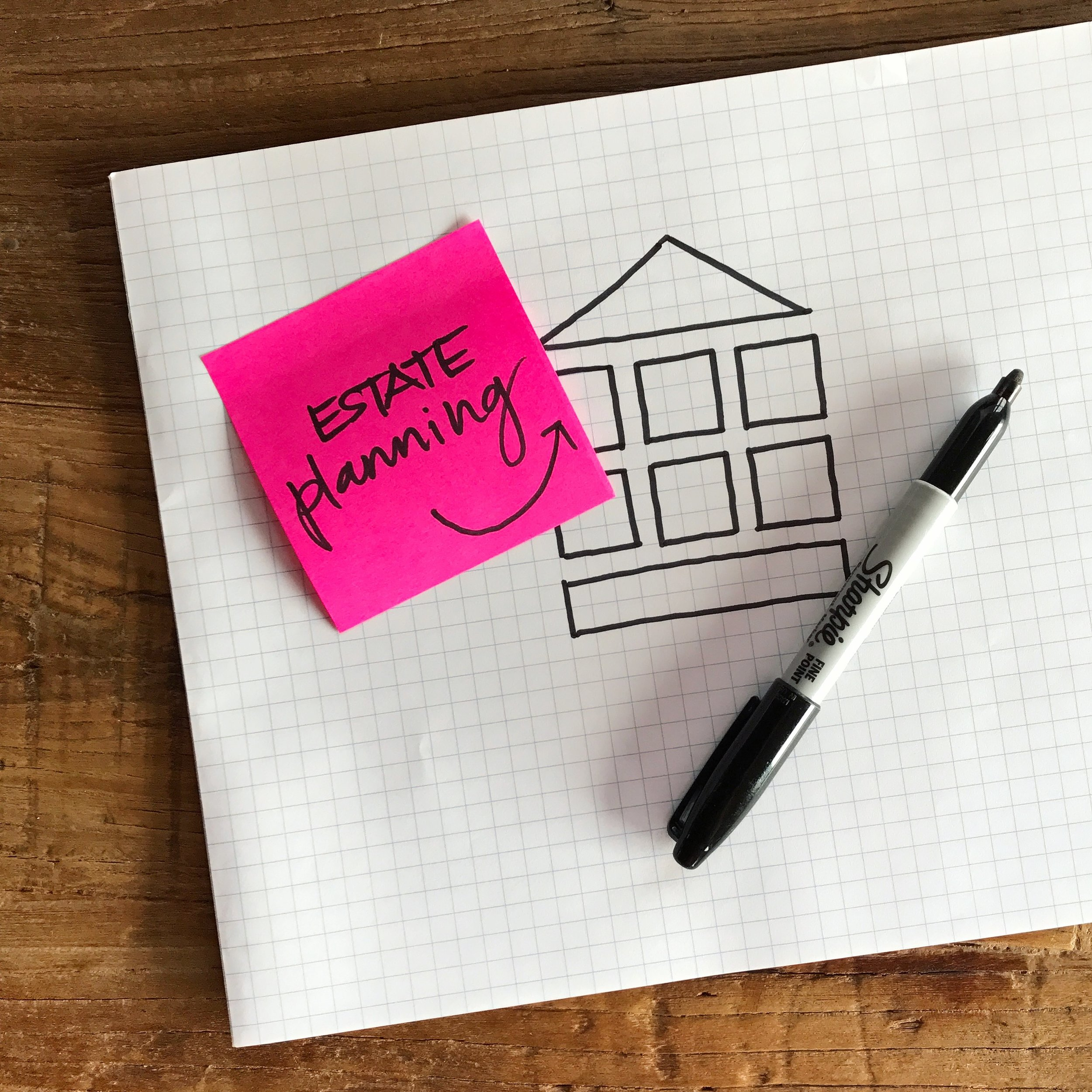 Estate Planning   Good estate planning accomplishes two things.  1) It makes sure all of the stuff you've worked for, grown, and accumulated, goes where you want it to go in the event that you're not here tomorrow.   2) It makes sure all of the stuff you've worked for, grown, and accumulated, goes where you want it to go in the event that you're here tomorrow but incapacitated.