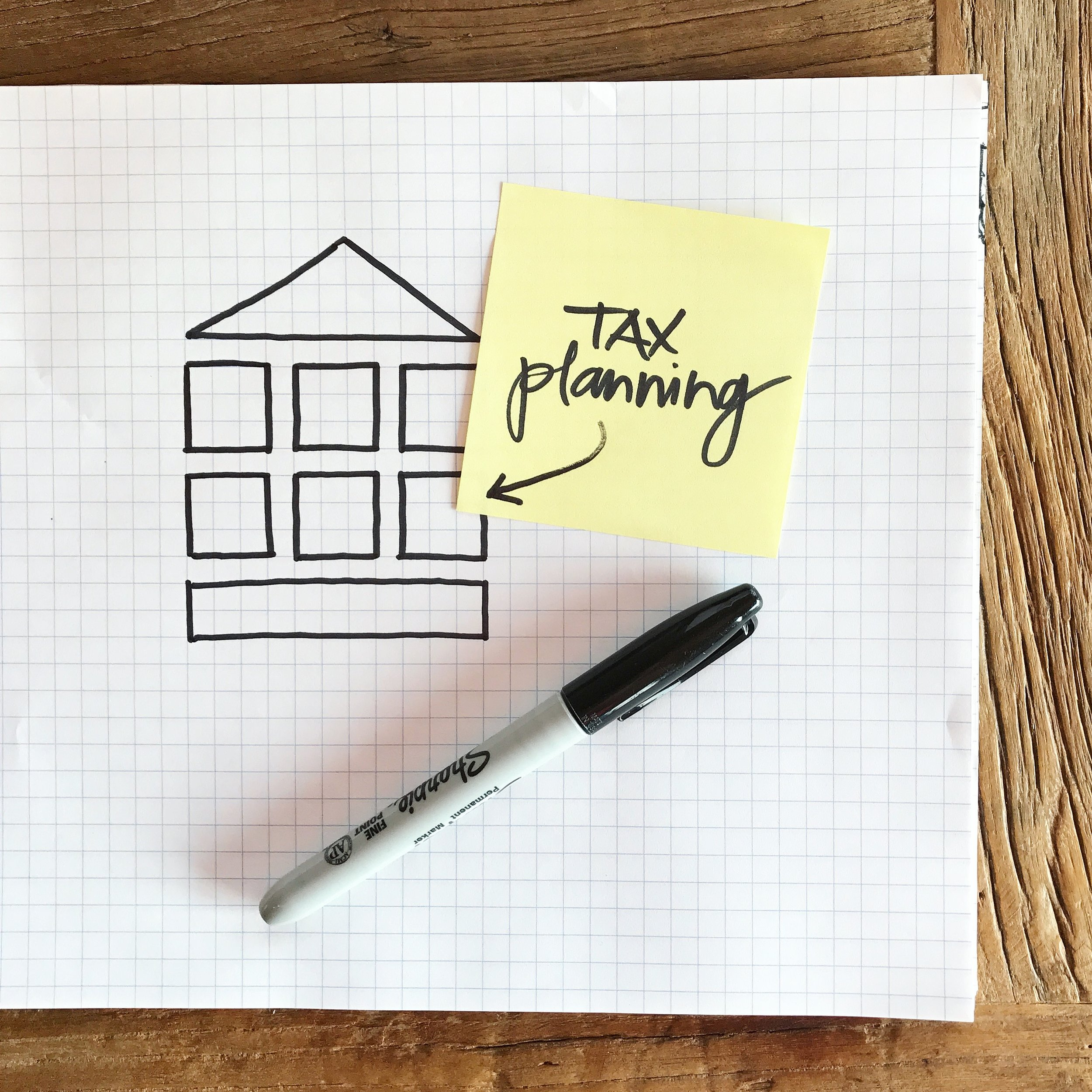 Tax Planning   We don't just focus on how to lower last year's taxes for you, but rather on what gives you the most tax flexibility for the next 30 years.   Instead of being reactive, we try to be as proactive as possible when it comes to tax planning.