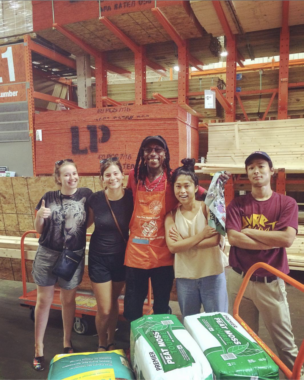 Our hearts are very full! Overwhelmed by the generosity of  @homedepot  and Everold! Thank you to  @moral_punishment ,  @hannaheliasoph and Kenzi for all the heavy lifting!! 💪🏽  #strongertogether   #hamiltonian  #majormonday   #punk   #hardcore  #permacounterculture