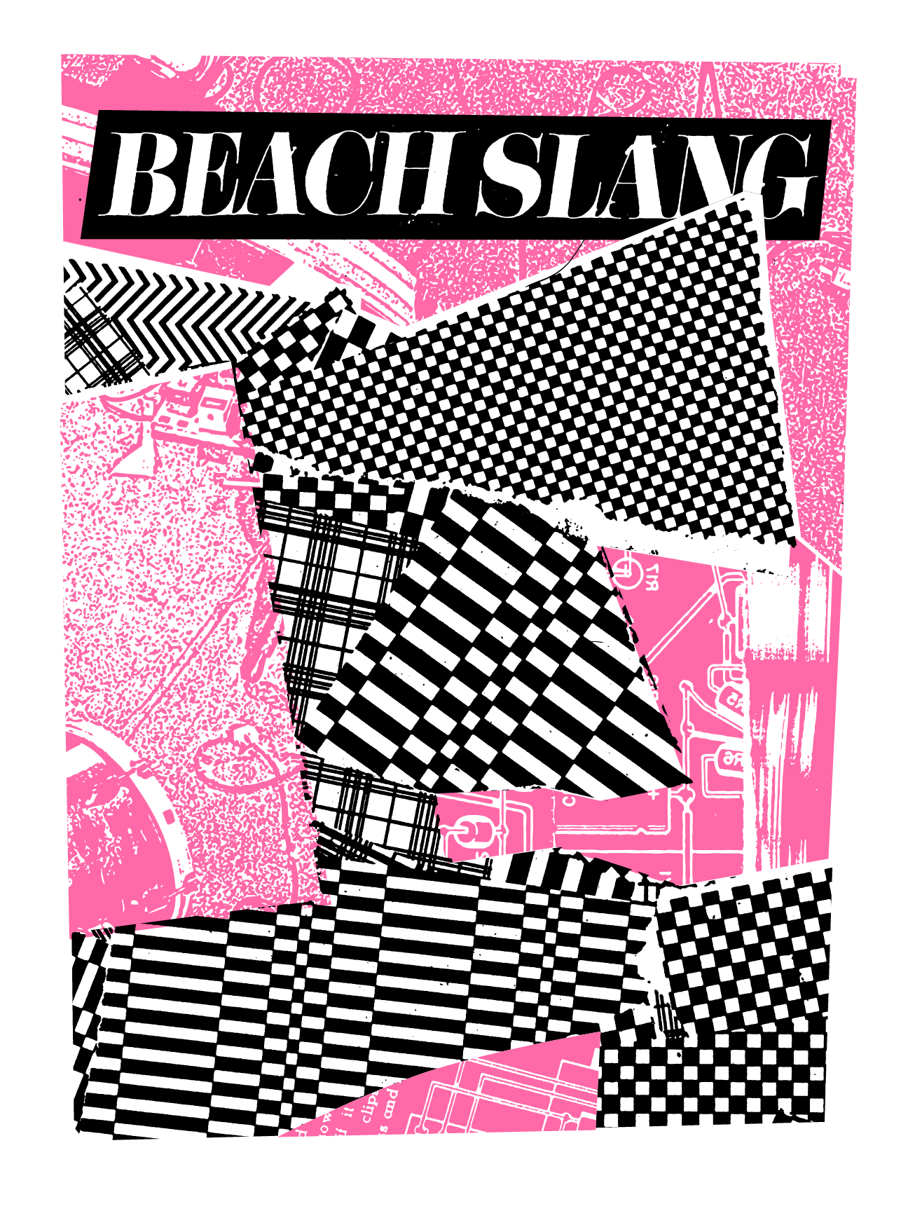 "Tour Poster, 2015.  2 colors, Black and Neon Pink on white   19""x25"" archival cover stock. Edition of 75."