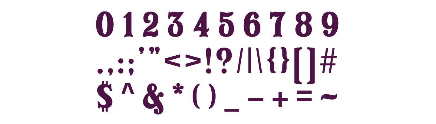 Numbers And Punctuation
