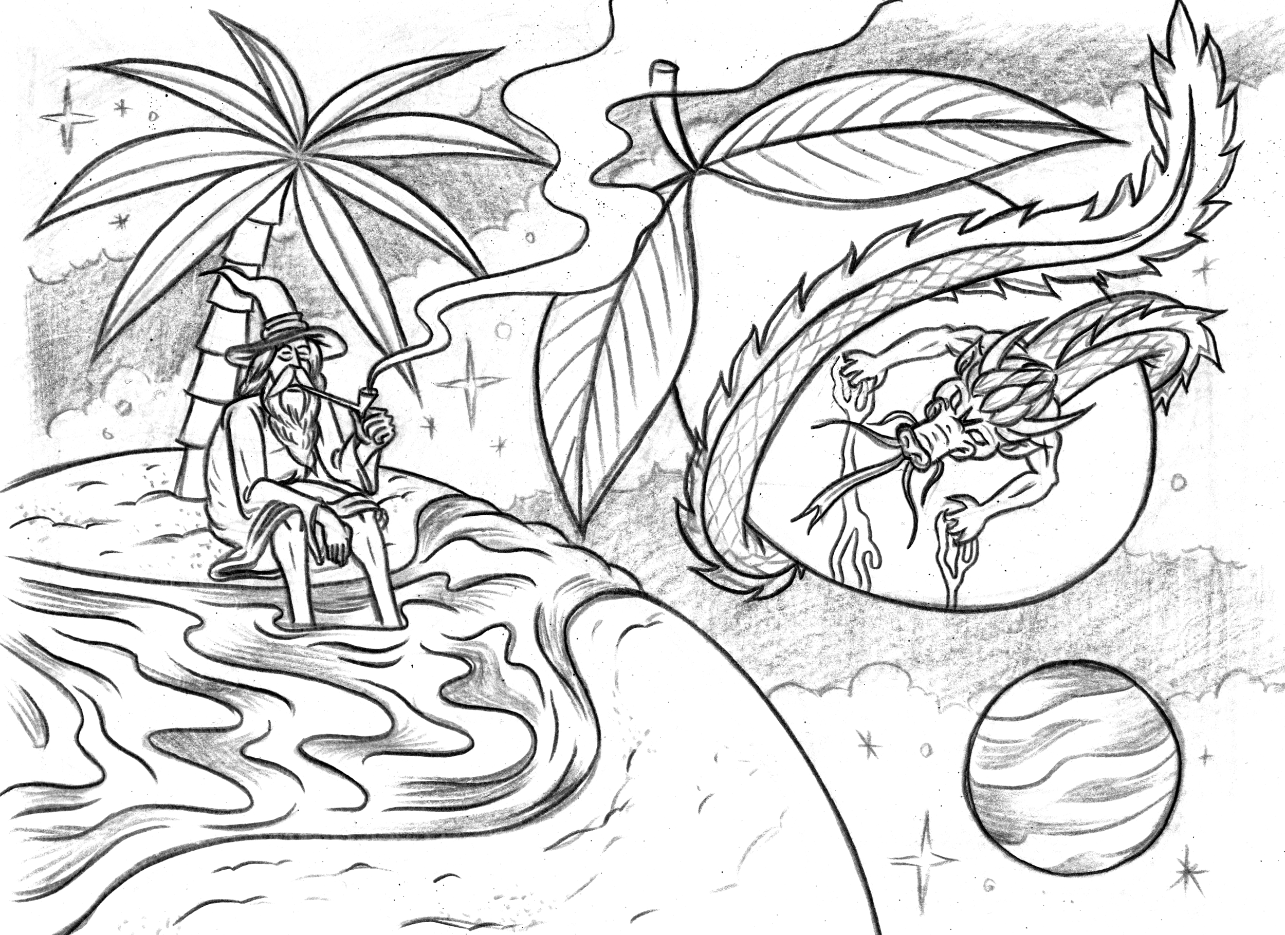 """Pencil art for """"Mango Shape Of Haze To come"""""""