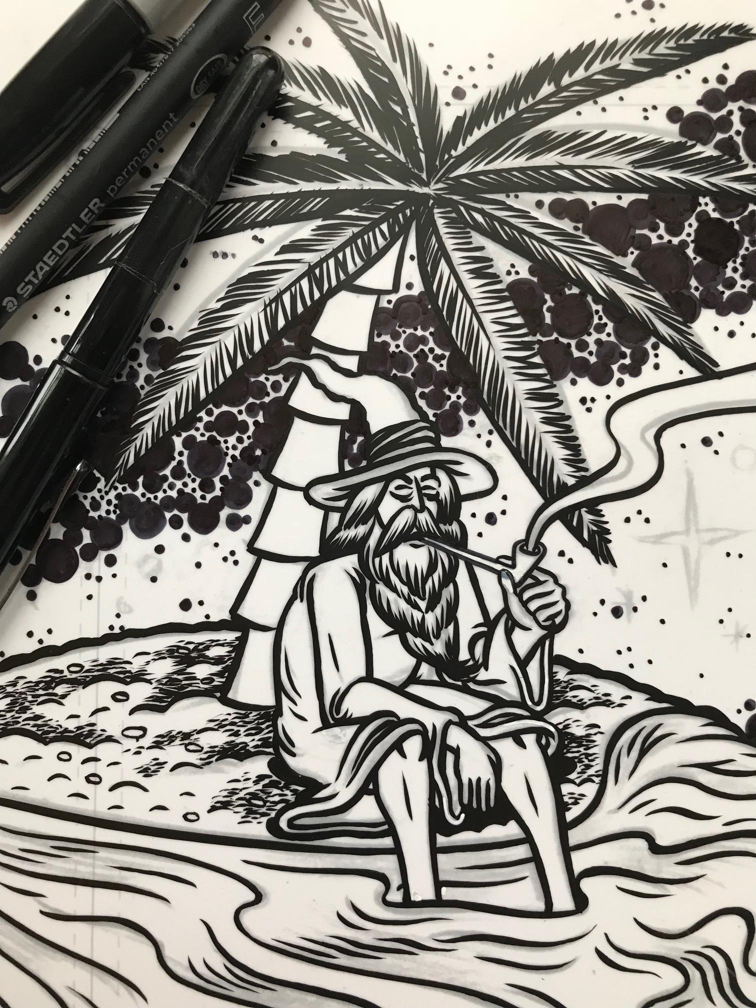 "Ink art for ""Mango Shape Of Haze To come"""