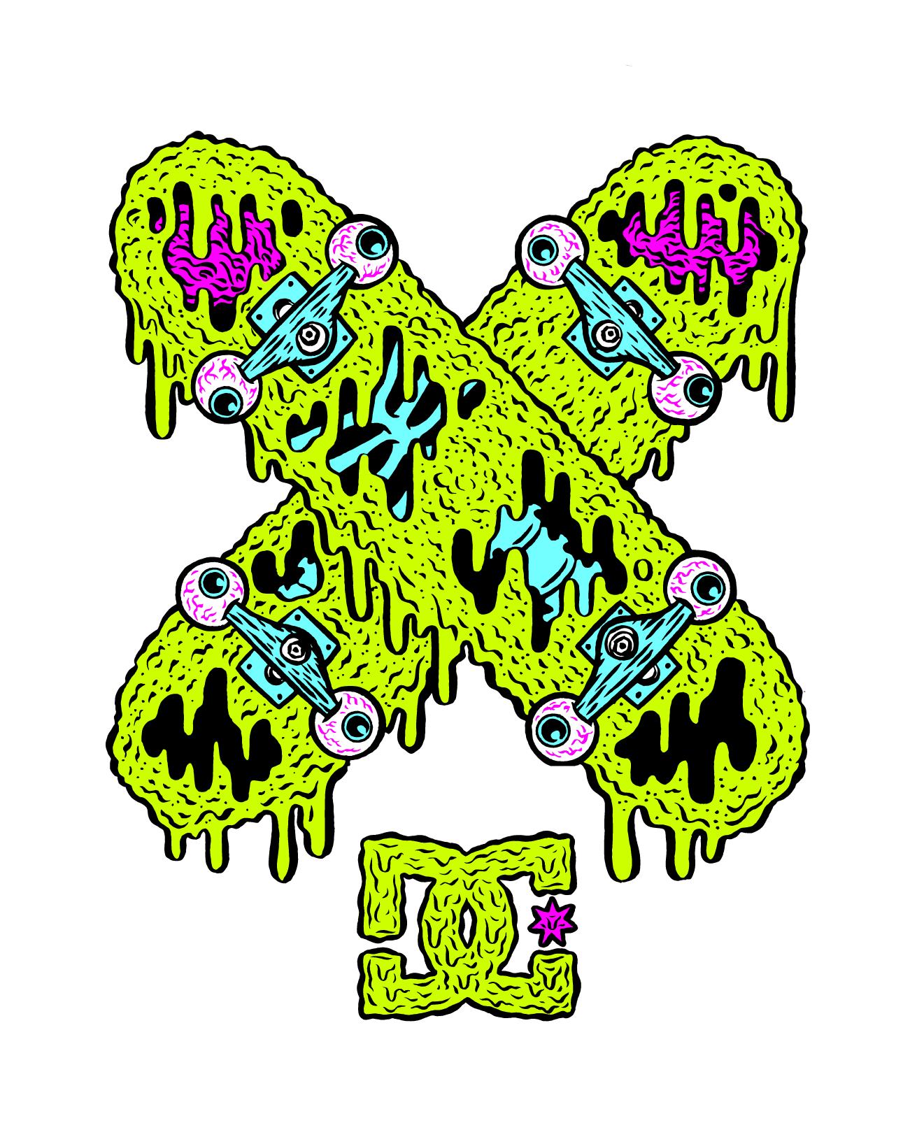 Apparel Design, Illustration for DC Shoe Co.