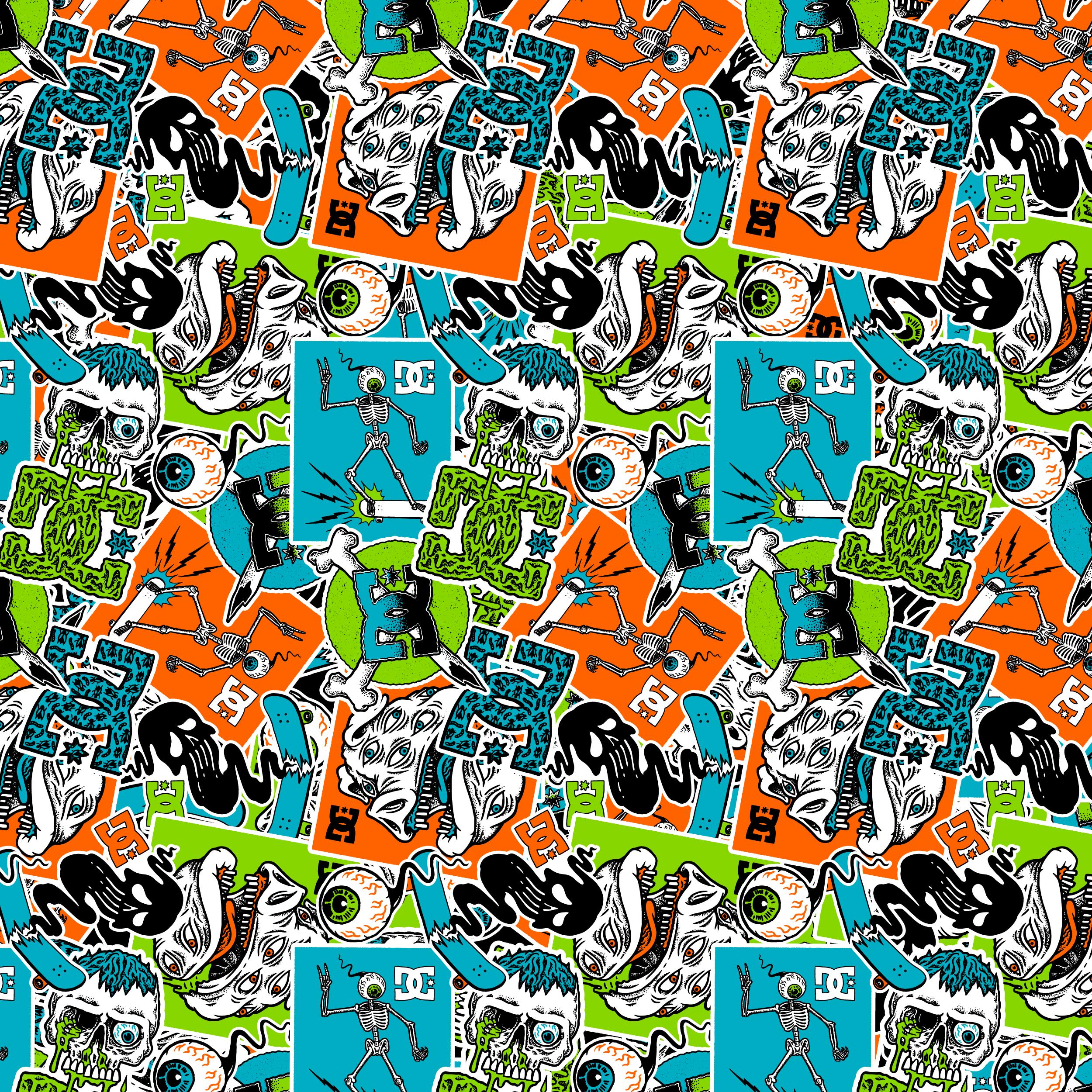Pattern Design, Illustrations for DC Shoe Co.