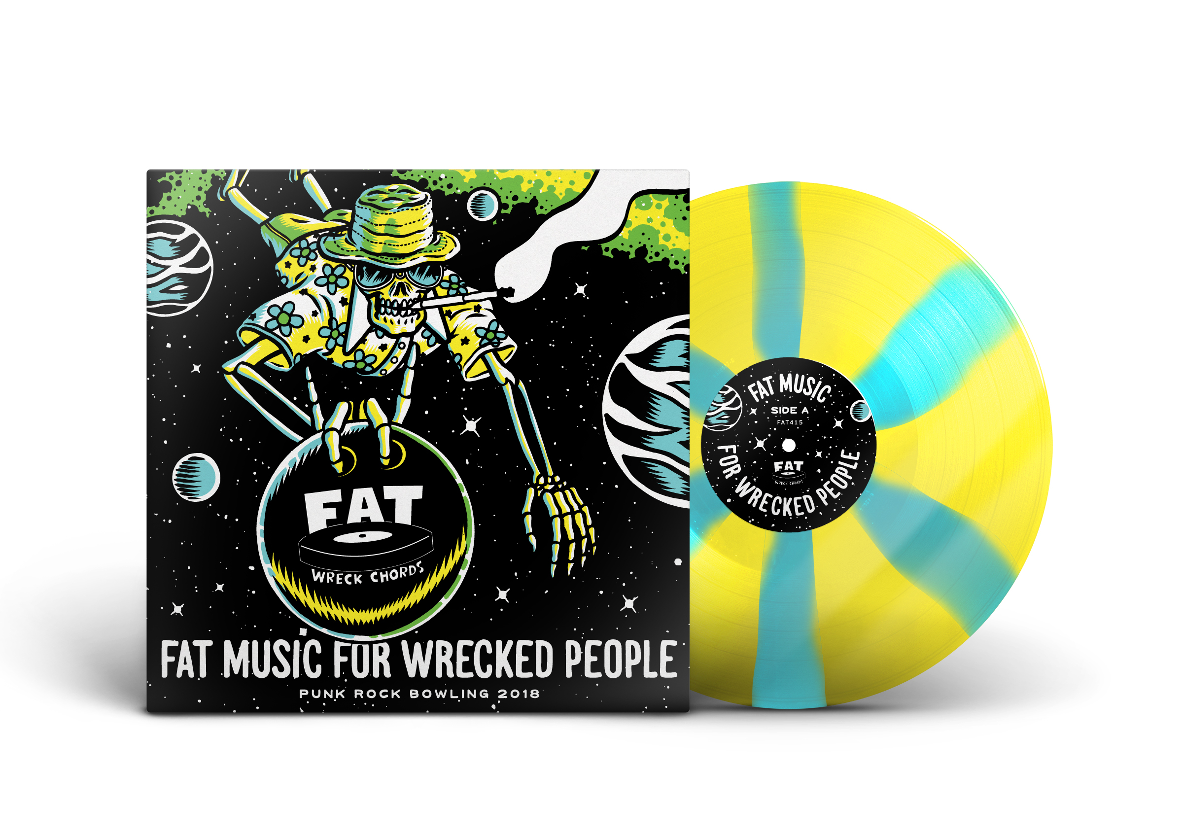 "Fat Music For Wrecked People Compilation. 10"" Record Packaging"