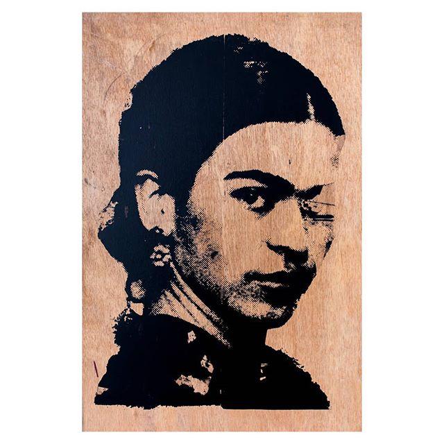 Frida print, 3 of 6 #screenprint #fridakahlo #art #wood #printonwood