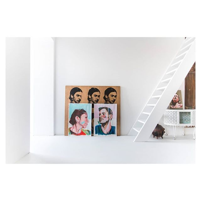 Oldies. Paint on paper x2 #art #paintings #paintonpaper #quickportraits #portraits #millanovo #novoart