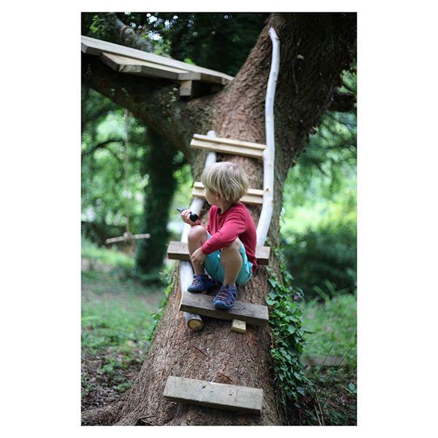 Nephew time. Walkie talkies and tree huts. #walkietalkie #treehouse #familytime