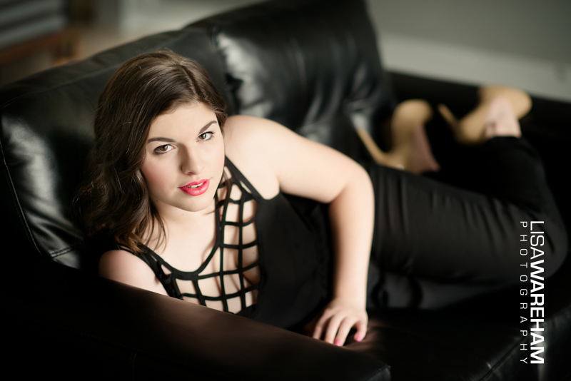 LOVE the classic black and red, nude heels, red lipstick on my modern black couch.