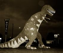 Dinosaur, Highway 40, Vernal, Utah, Steve Fitch, 1974