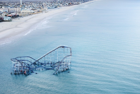 Roller Coaster after Hurricane Sandy, Seaside Heights, New Jersey © Stephen Wilkes courtesy of Peter Kettleman Gallery