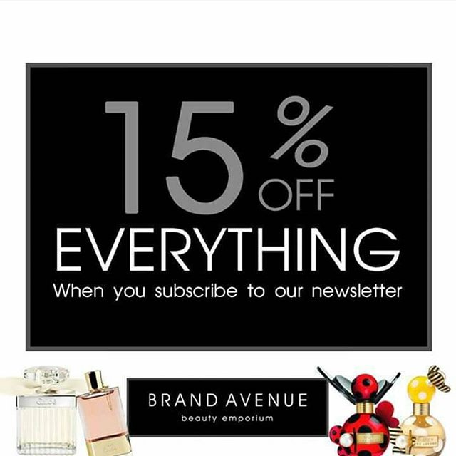 YAY, 15% OFF when you sign up to our newsletter - treat someone special this #mothersday x  http://www.brandavenuebeauty.com/subscribe-to-our-newsletter/  #beauty #bblogger #perfume #Ireland #love #shopping