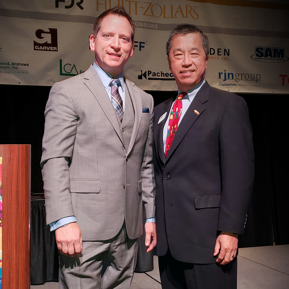 Event Co-Chairs Richard Arvizu of Binkley & Barfield, Inc. and John Ho of Huitt-Zollars, Inc.