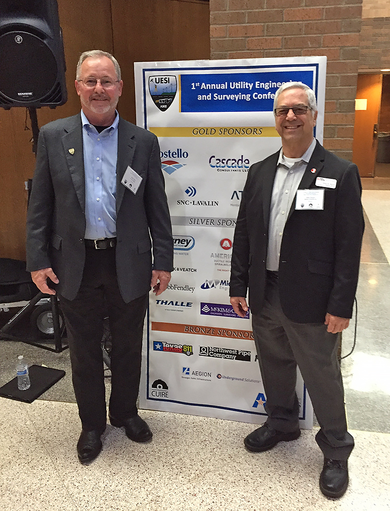 Pictured is John Jaeger (right) with Gary Rey from HW Lochner (left).
