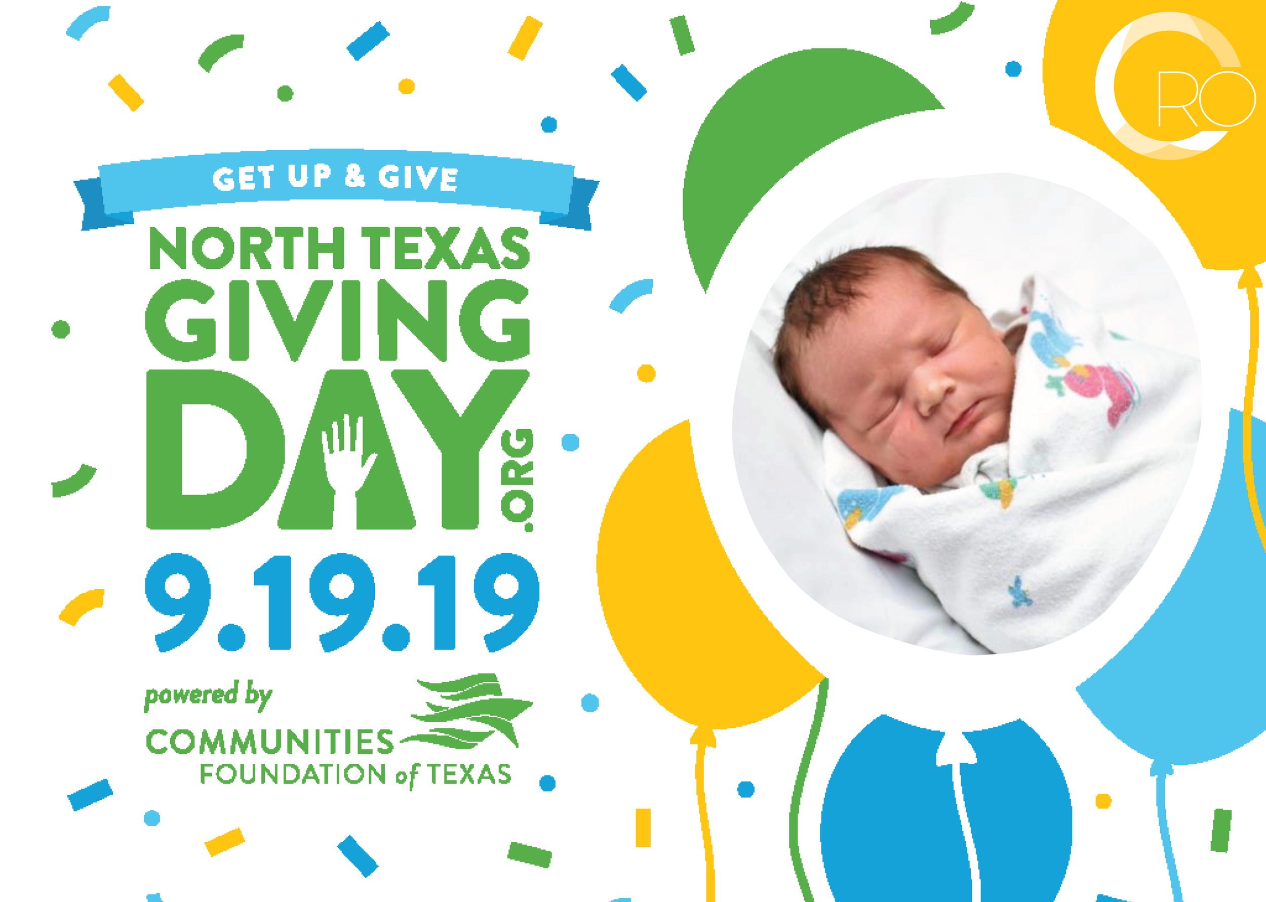 Join the party! - Real Options is excited to participate in North Texas Giving Day on Thursday September 19th! Every donation given on September 19th will be multiplied through bonus funds given by Communities Foundation of Texas. By giving to this event, you can help us reach our goal of raising $20,000.