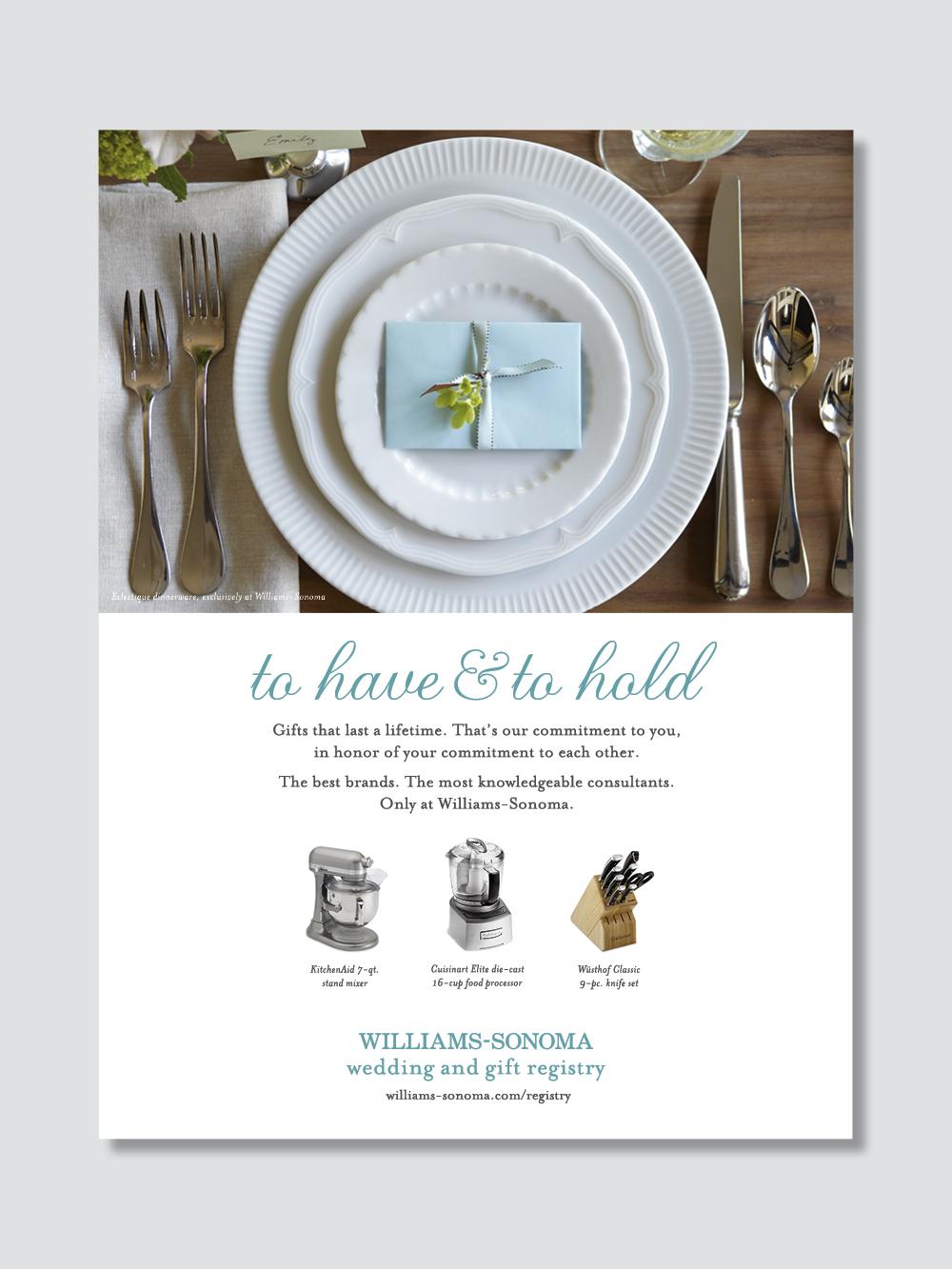 Williams Sonoma Wedding Registry.Ws Registry Miss Vu Sr Designer
