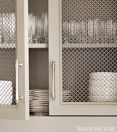 Metal inlay for cabinets.