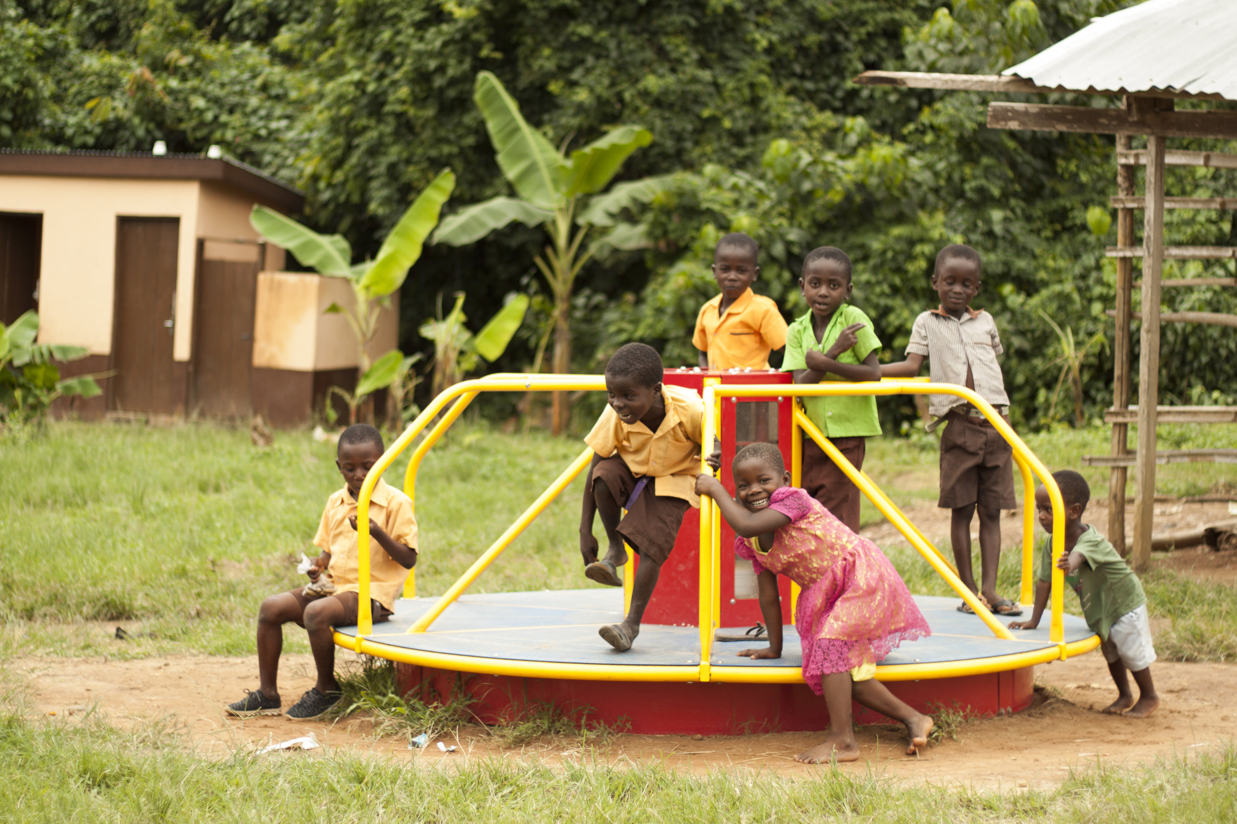 $10,000 - Provides a merry-go-round for a school