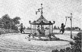 a 17th century, man-powered carousel