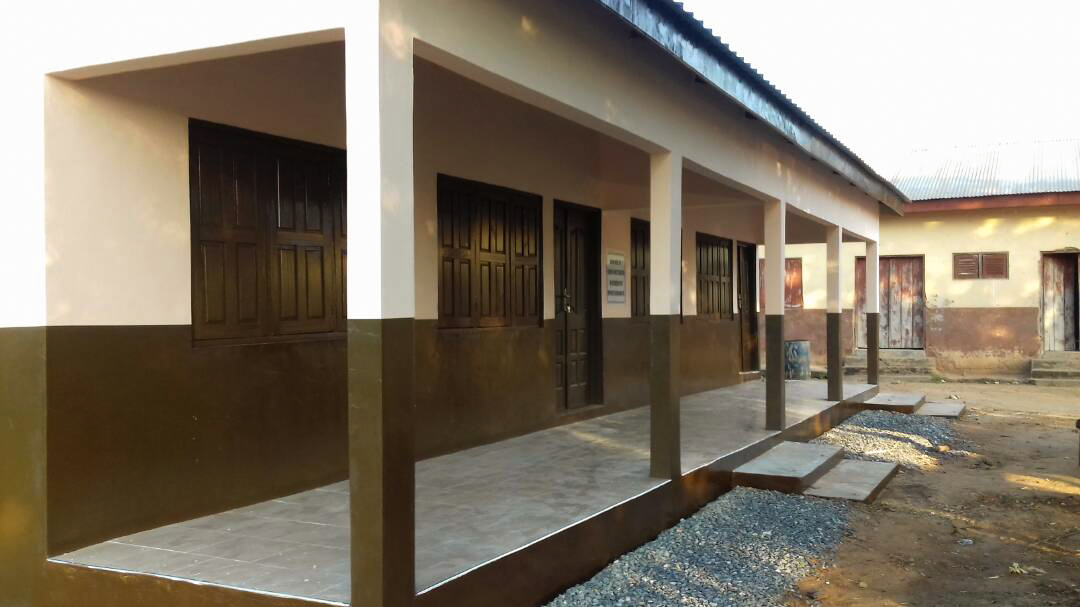 Nyapenia new classroom block. Completed in 2018.