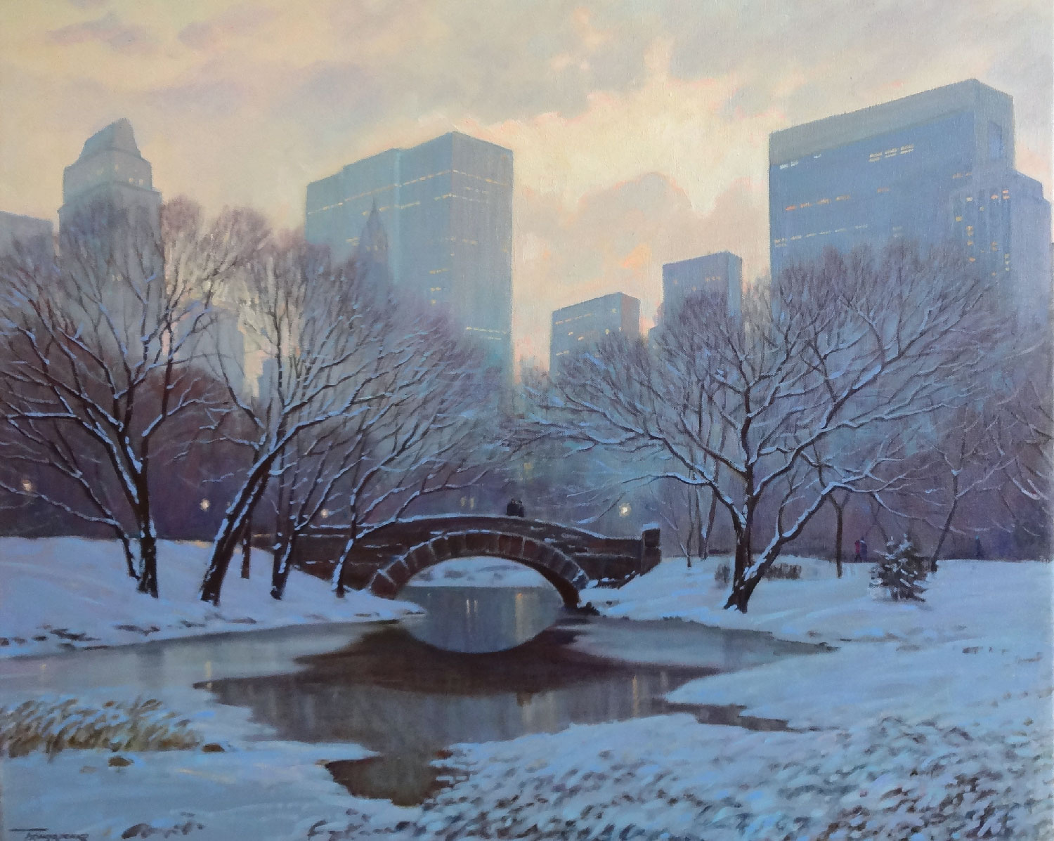 AFTER THE SNOW, CENTRAL PARK  oil, 32 x 26 in.