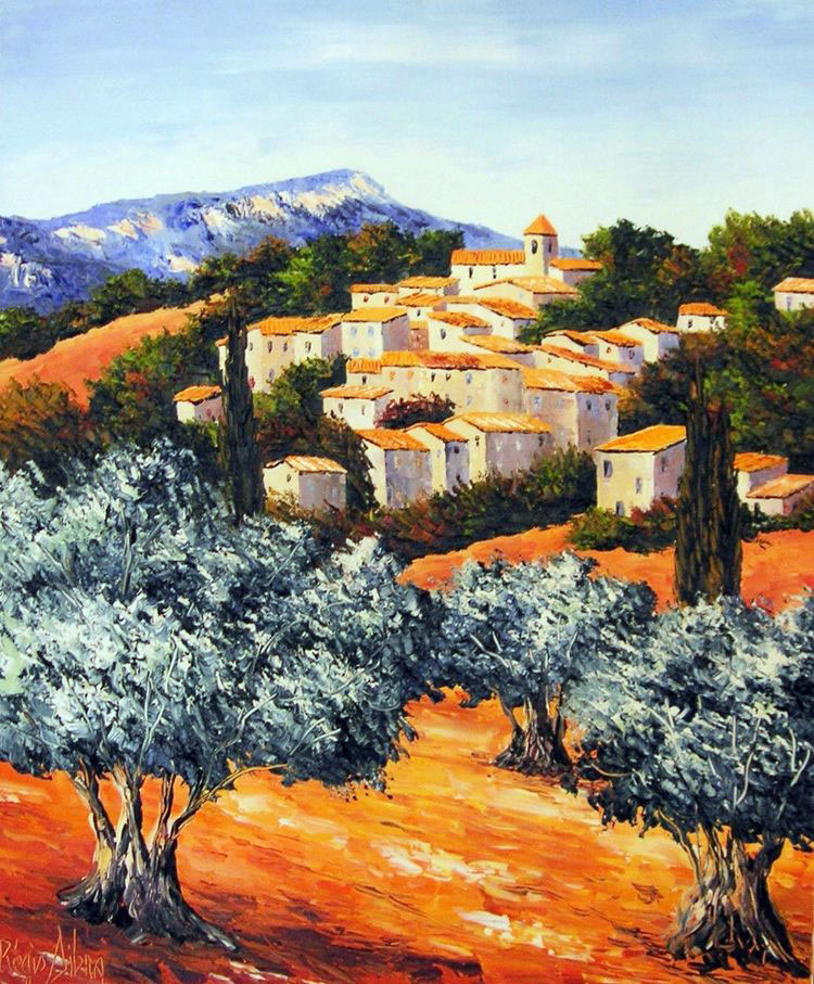 VILLAGE DE AUREL  oil, 24 x 29 in.